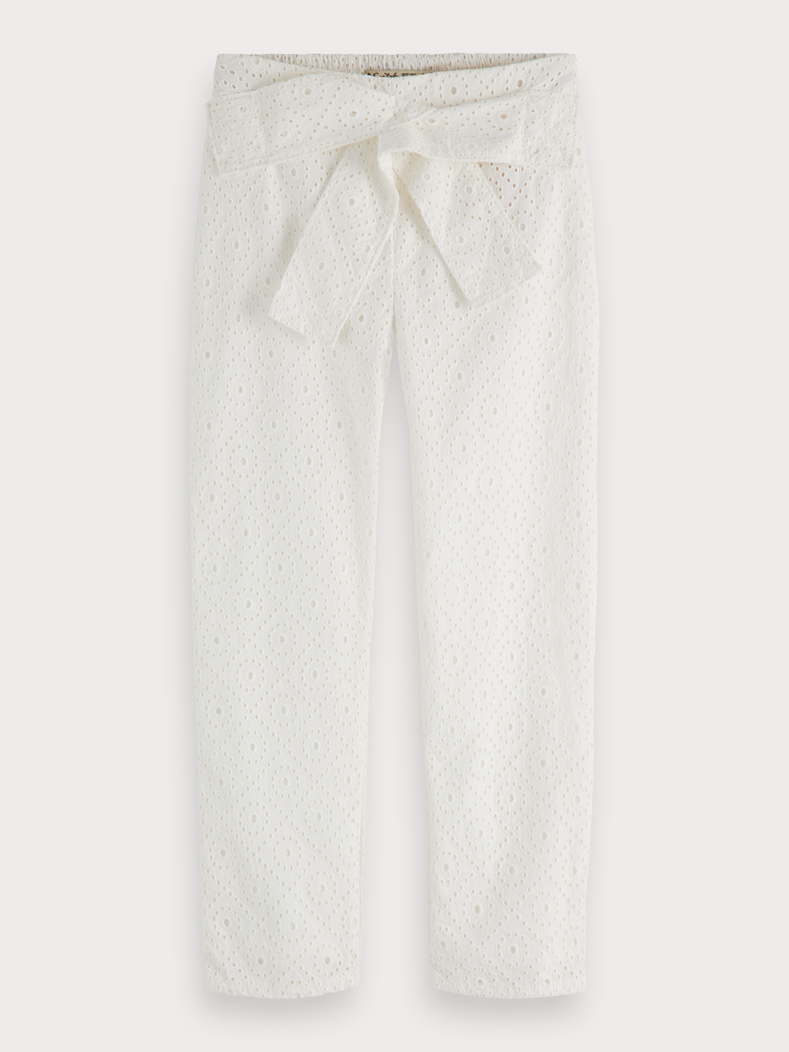 Girls Broderie anglaise trousers | Slim fit