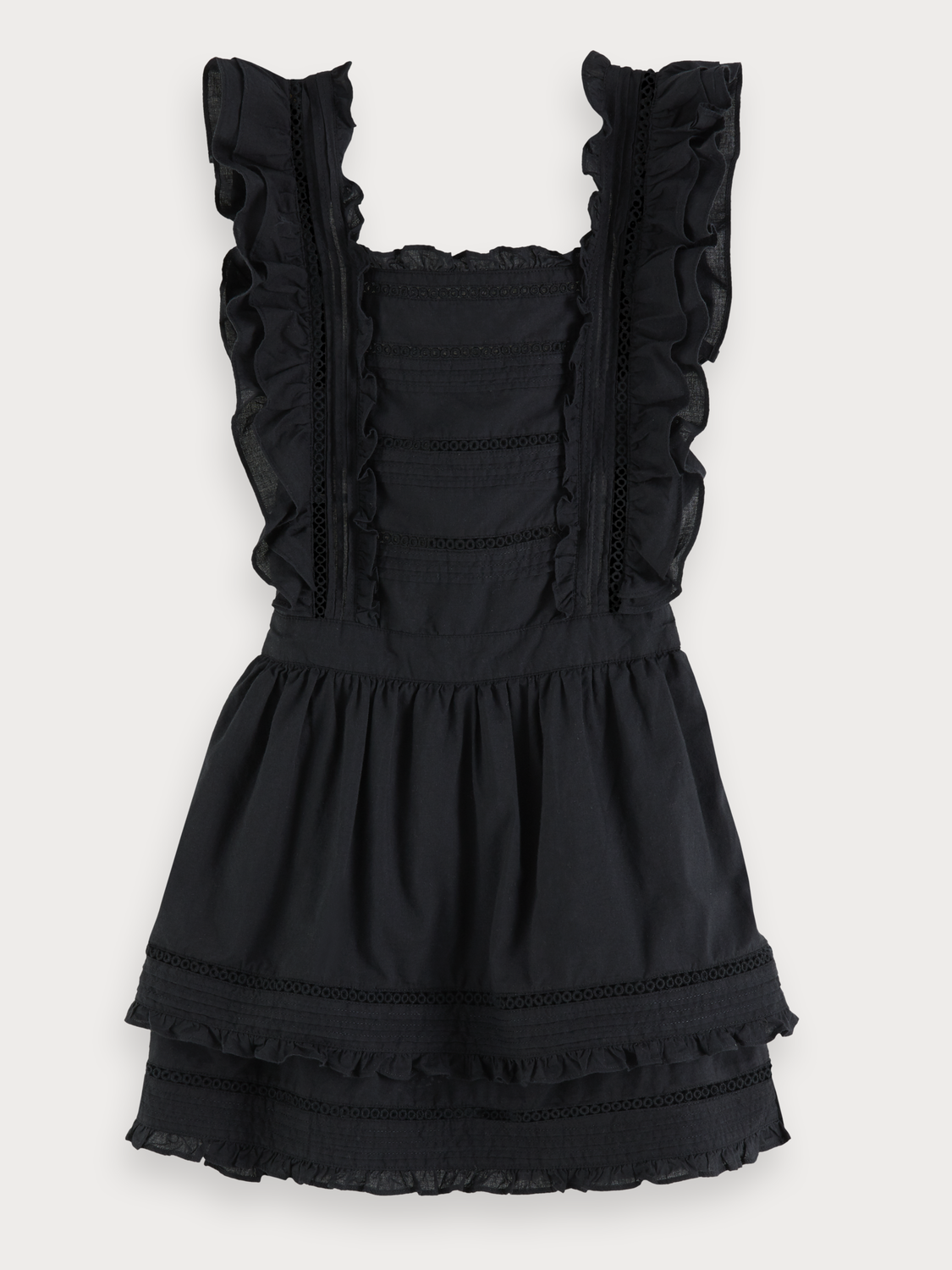 Girls Layered Ruffled Cotton Dress