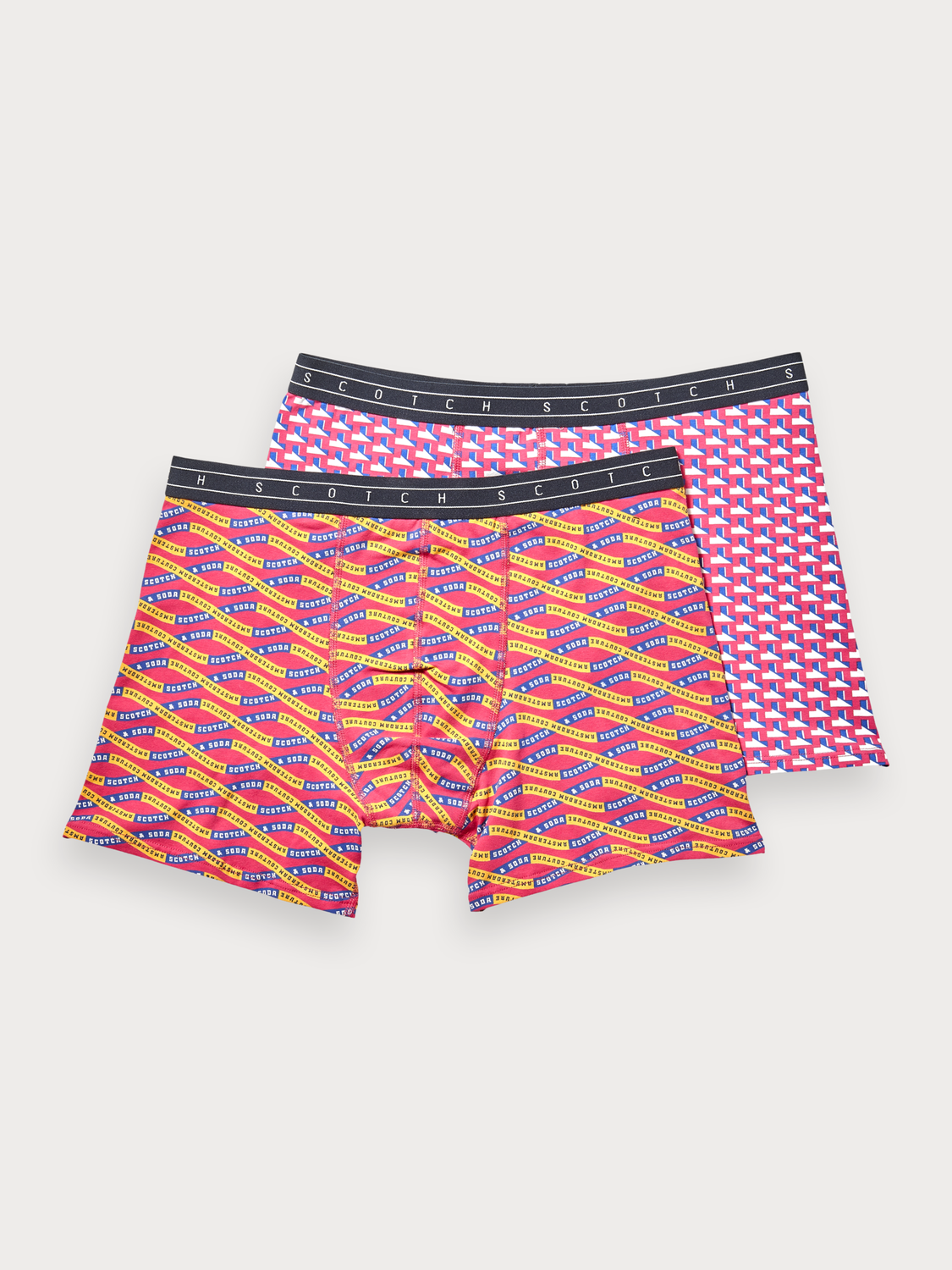 Men 2-Pack Printed Boxer Shorts