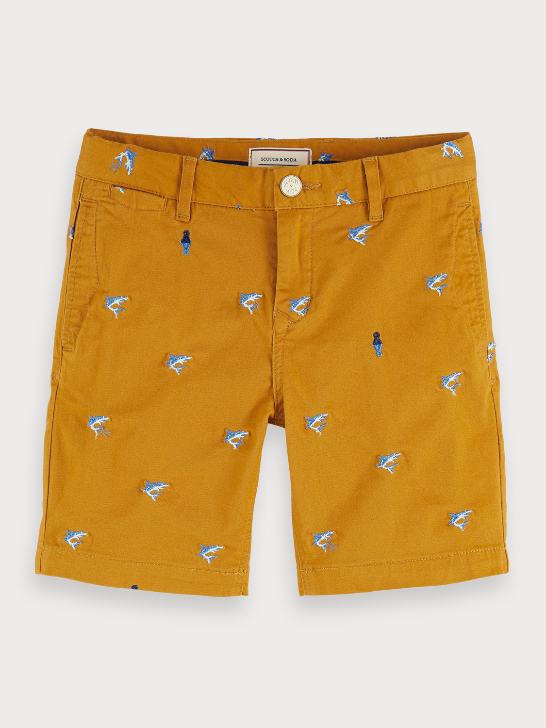 Boys Embroidered Chino Shorts