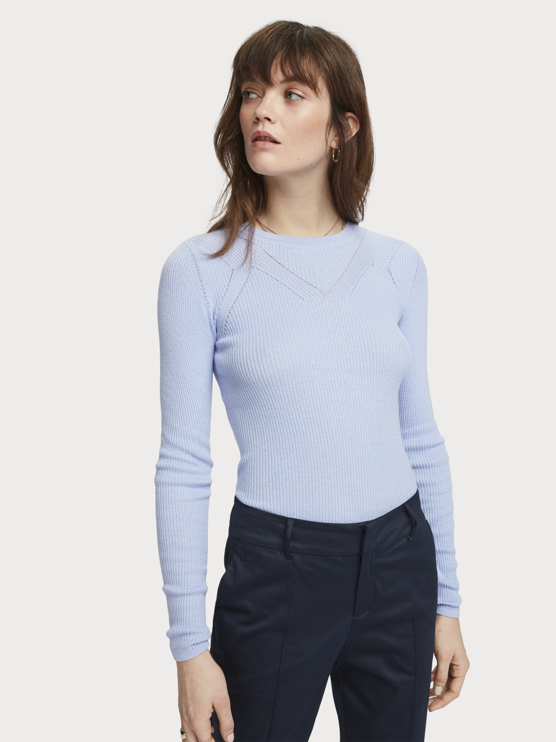 Women Rib Knitted Pullover