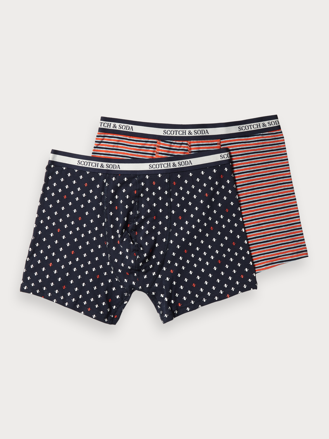 Men 2-Pack Printed & Striped Boxer Shorts