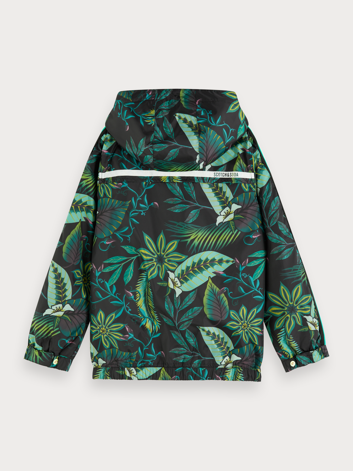 Boys Floral print windbreaker jacket