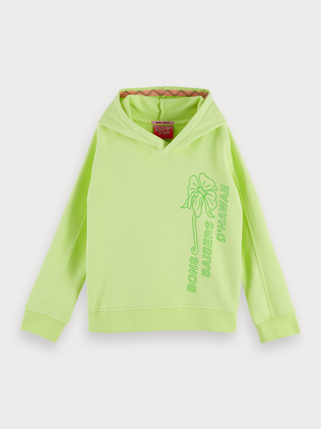 Fille Sweat-shirt à capuche citron vert