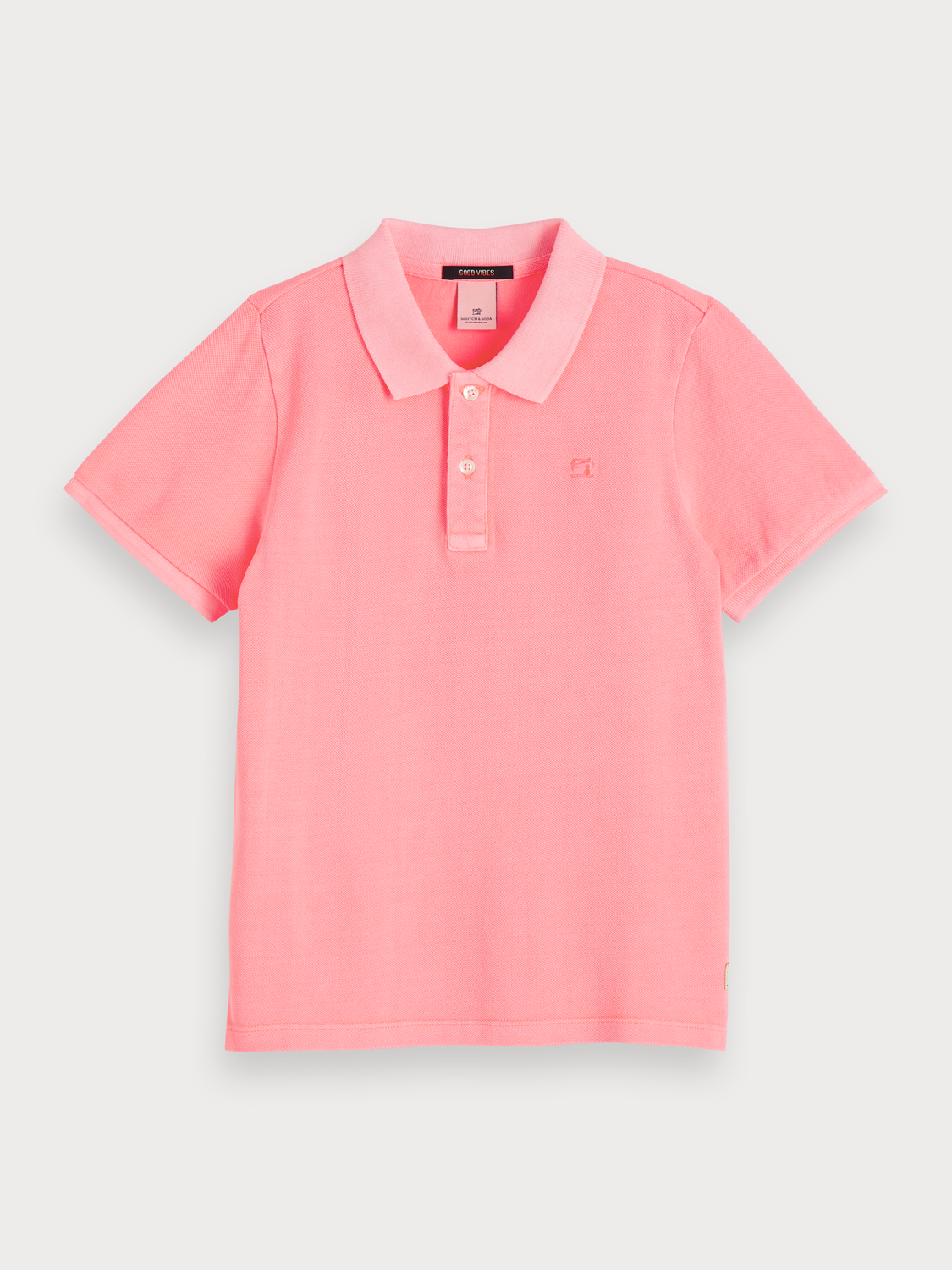 Boys Garment dyed polo
