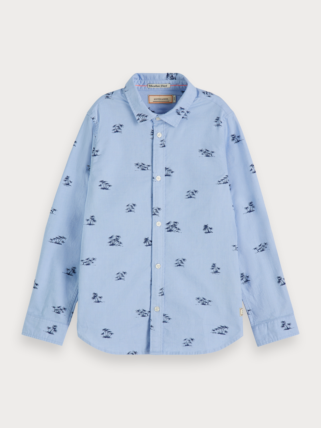 Boys Palm tree print oxford shirt | Slim fit