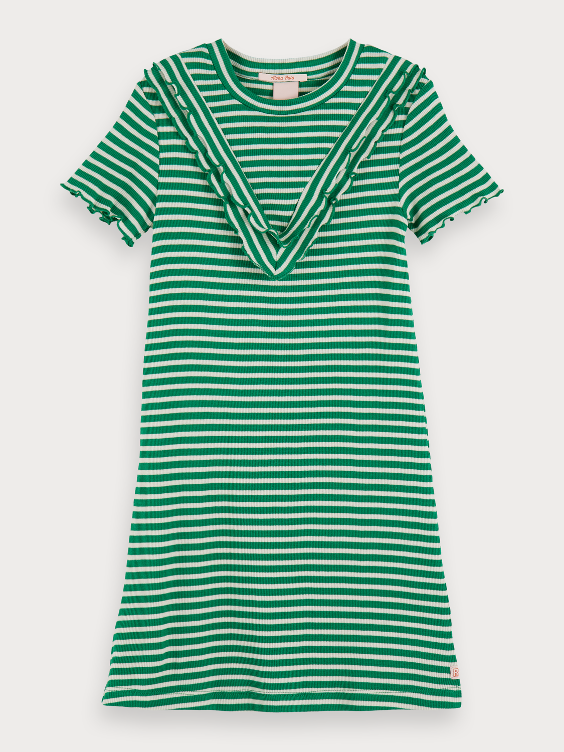 Girls Striped Rib Knitted Dress