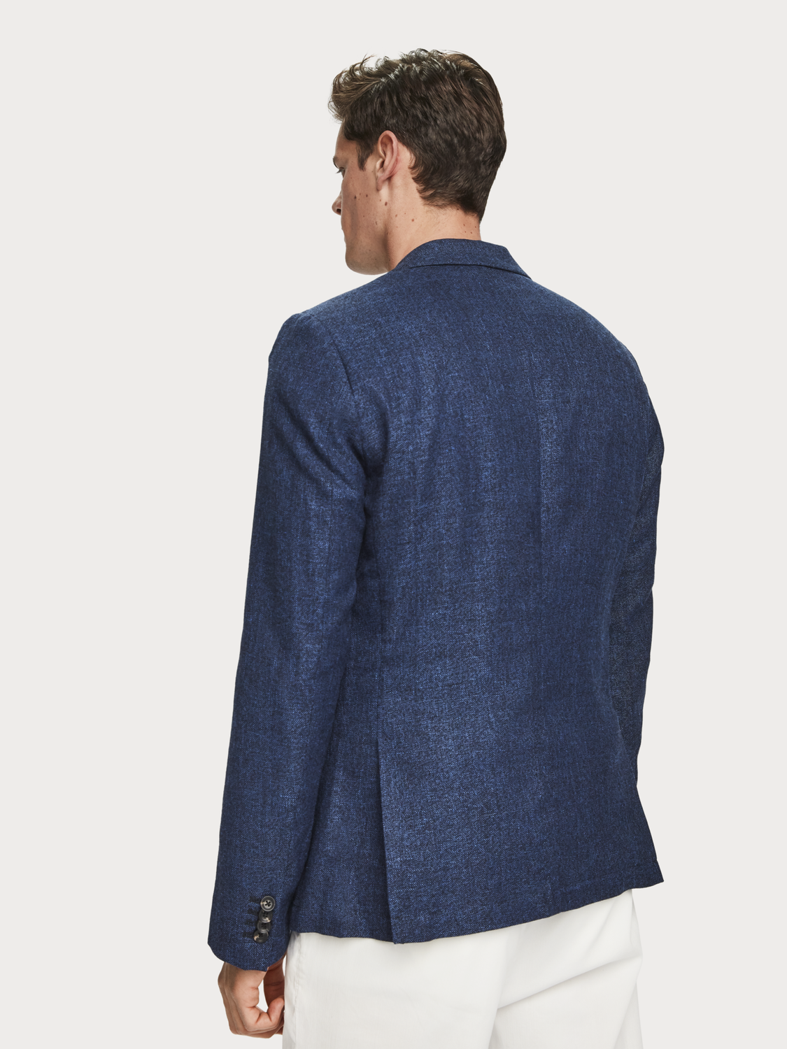 Men Lightweight wool blend blazer