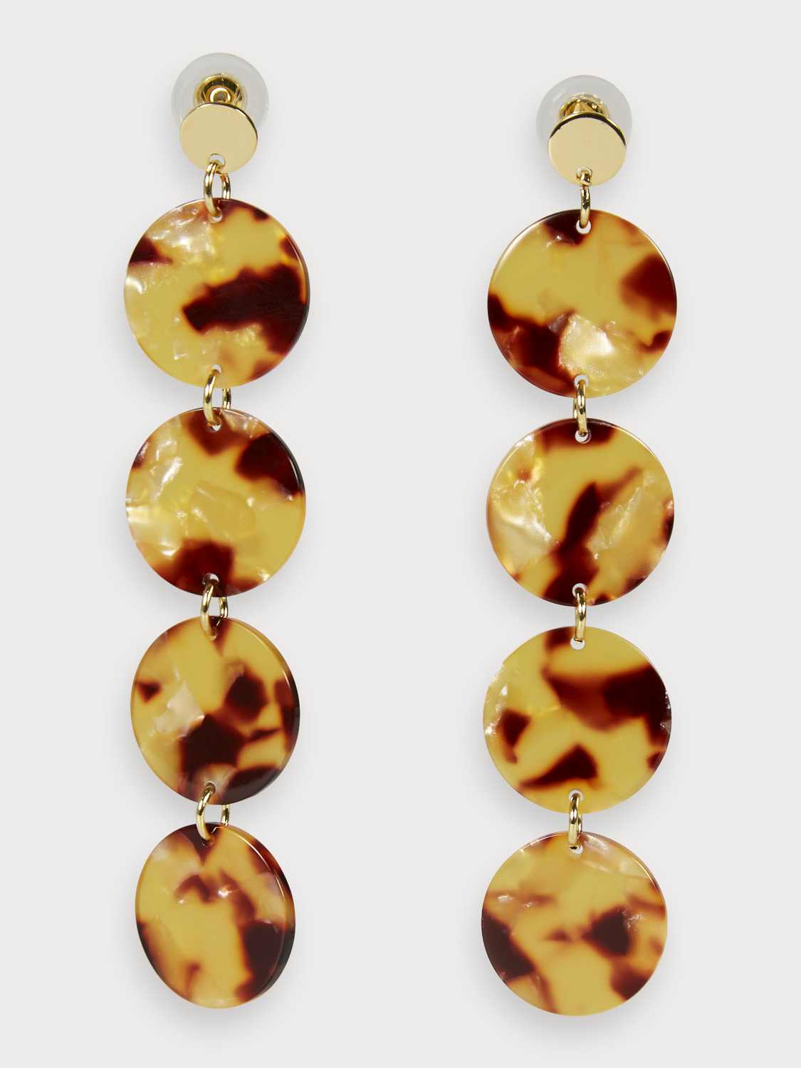 Women Faux Tortoiseshell Earrings