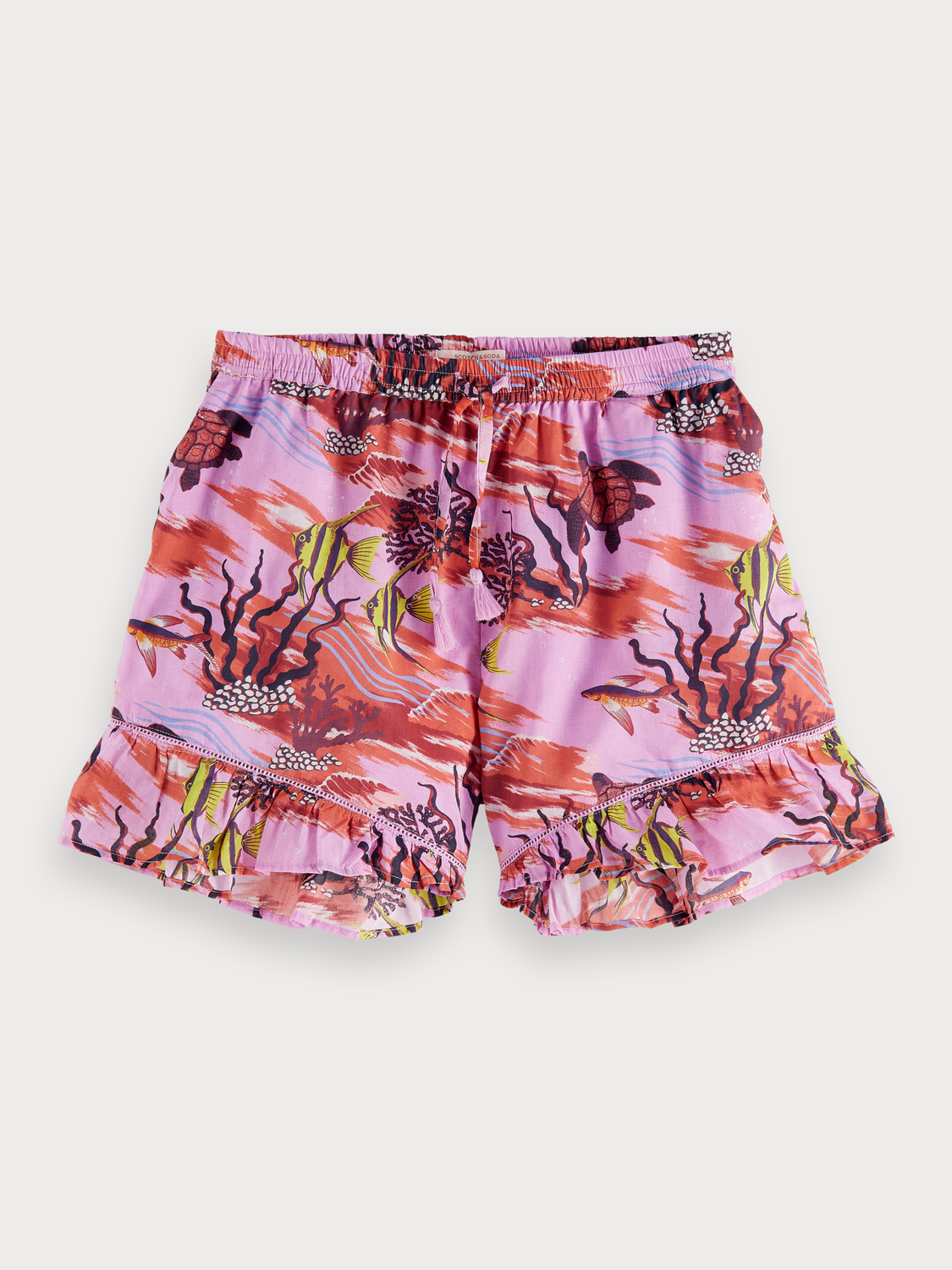 Niña Shorts con estampado submarino