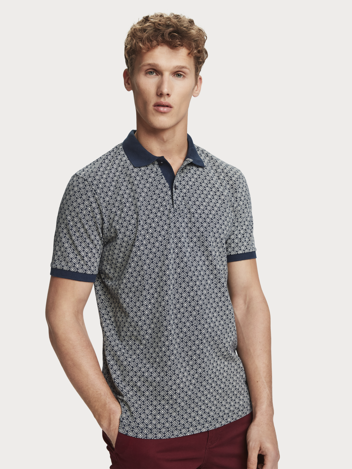 Men Printed polo