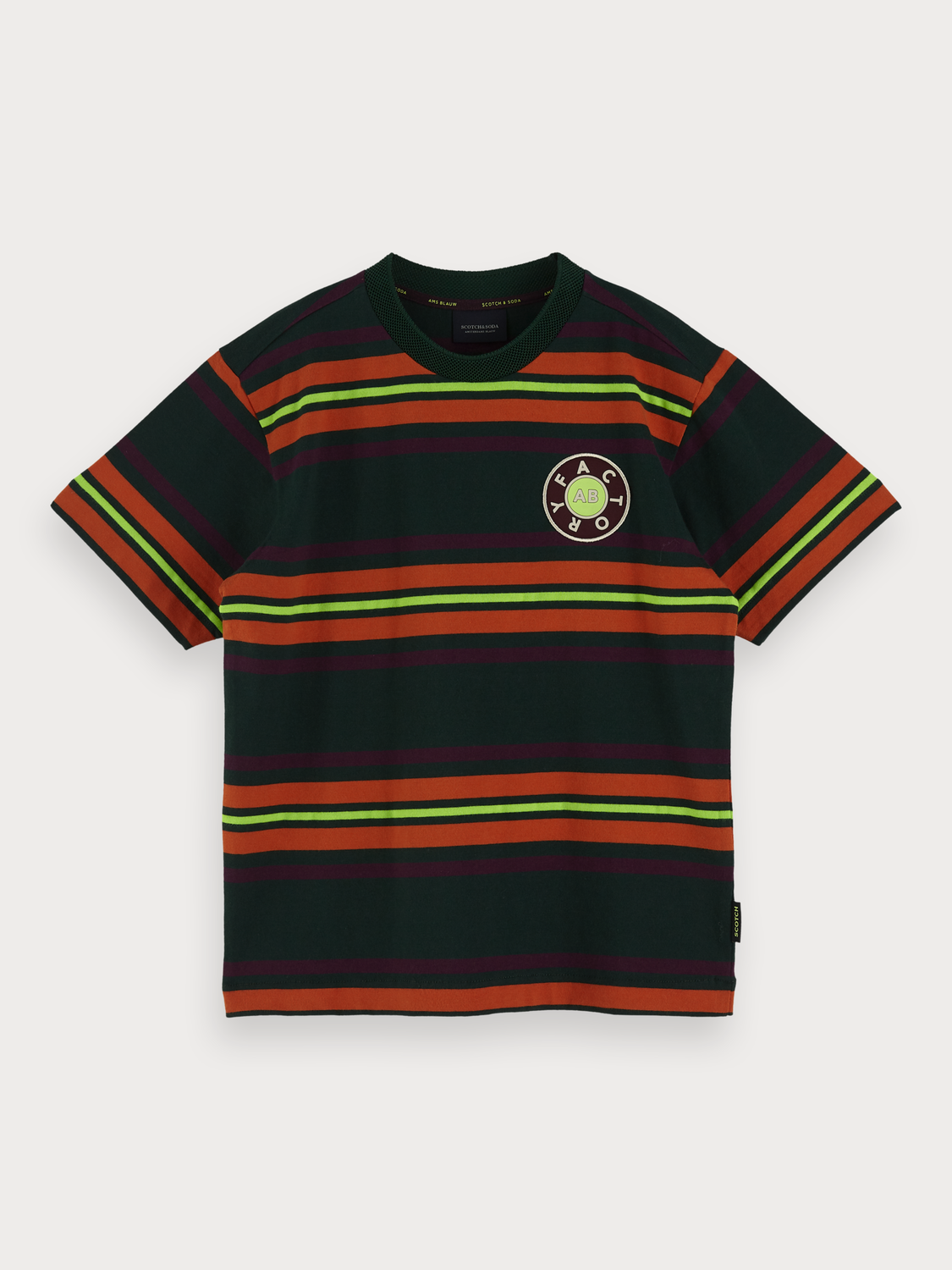 Boys Striped Crew Neck T-Shirt