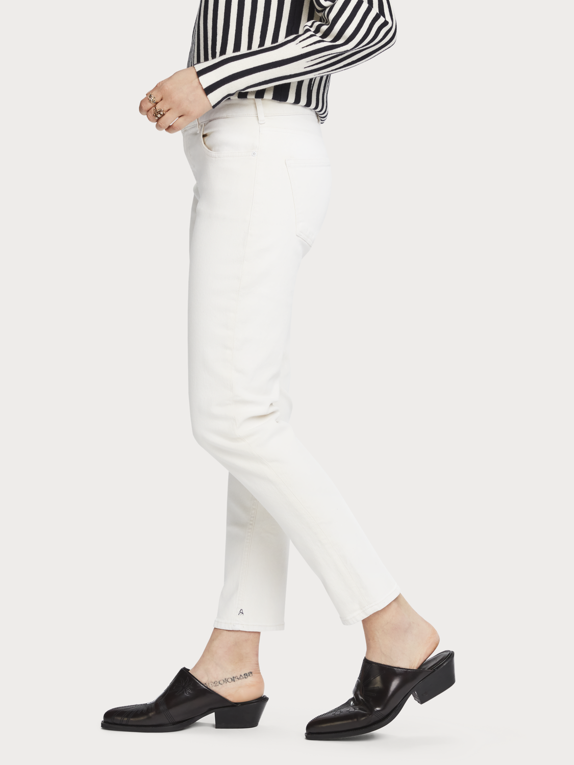Dames The Keeper - Pastel Coat | Mid rise slim fit
