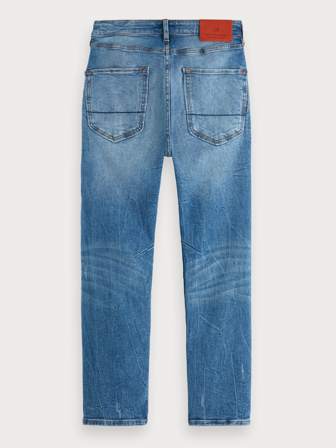 Herrar Dean - Blauw Tale Repair | Loose tapered fit