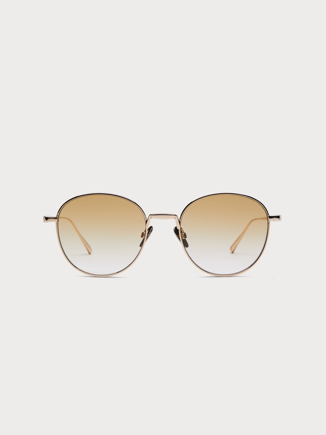 Men Abbot - round-frame gold-tone sunglasses