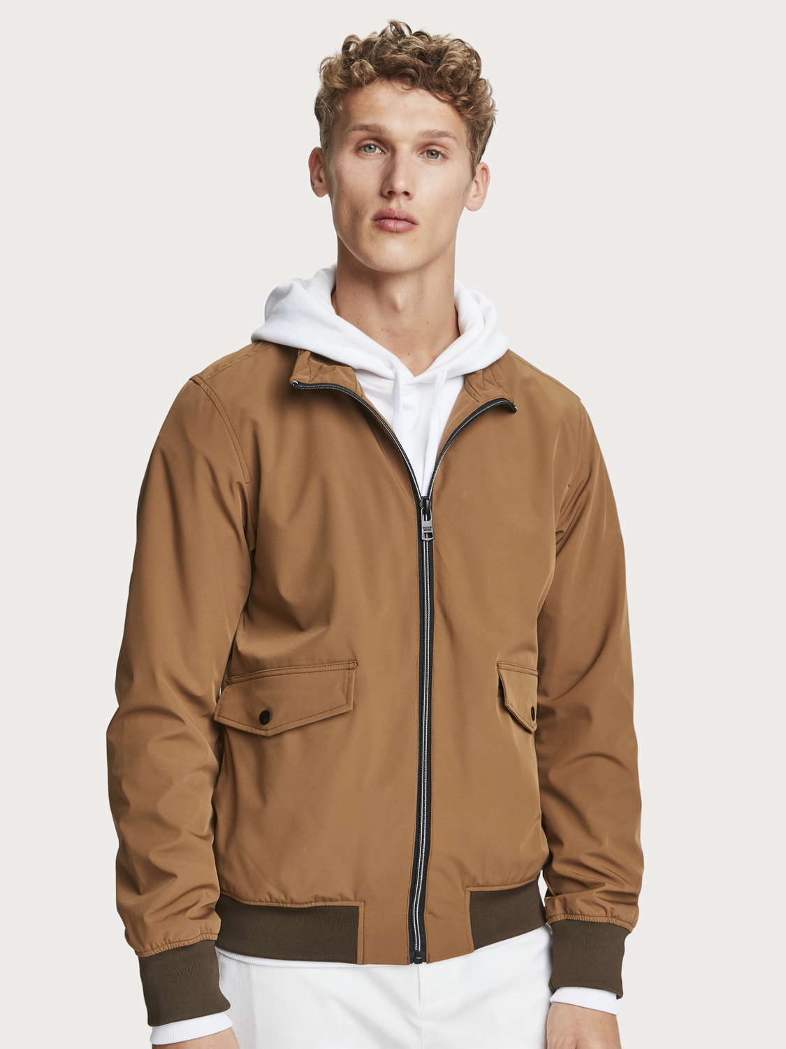 Men Nylon Harrington Jacket