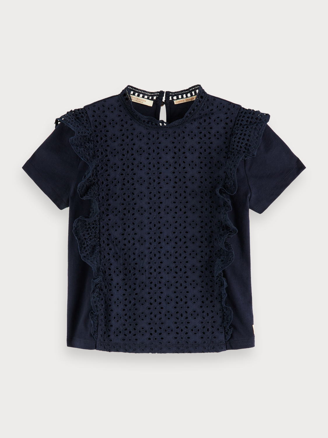Girls Broderie Anglaise Top