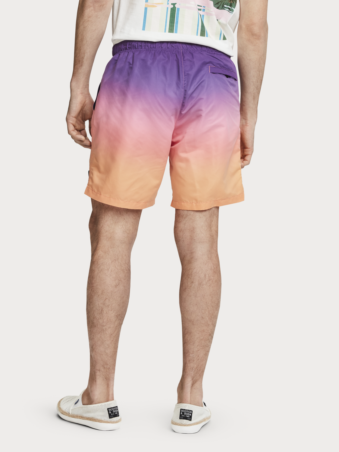 Men Gradient Swim Shorts
