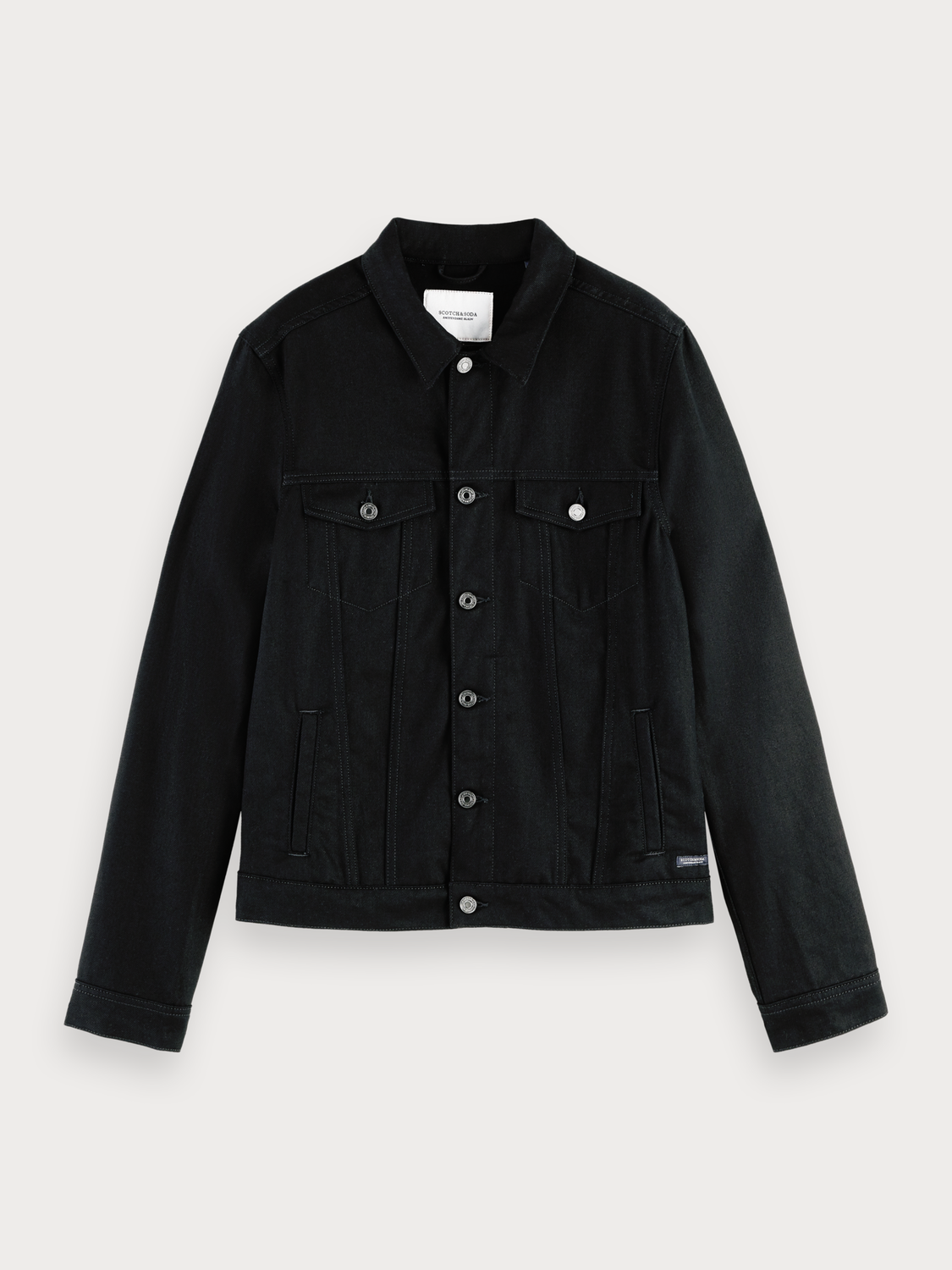 Herrar Truckerjacka i denim - Clean Black