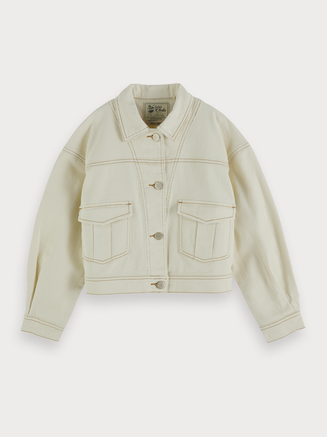 Girls Cotton Twill Trucker Jacket