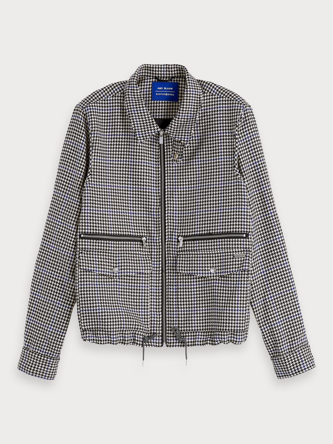 Men Houndstooth Jacket