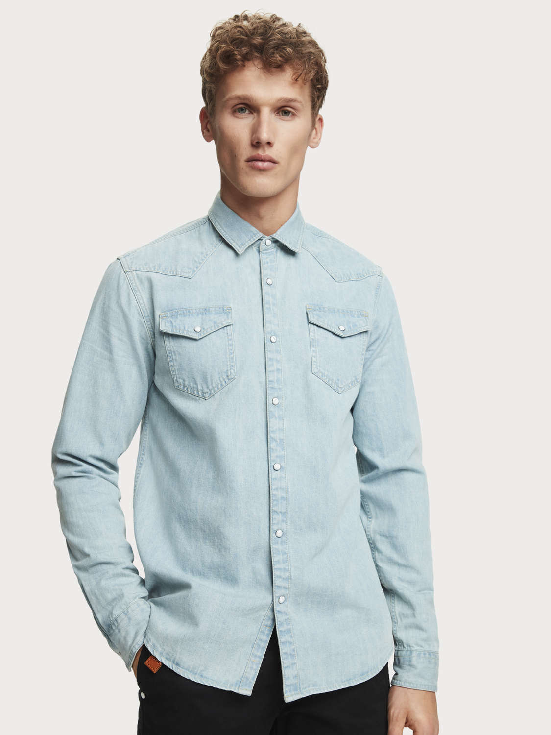 Uomo Camicia in denim | Regular fit