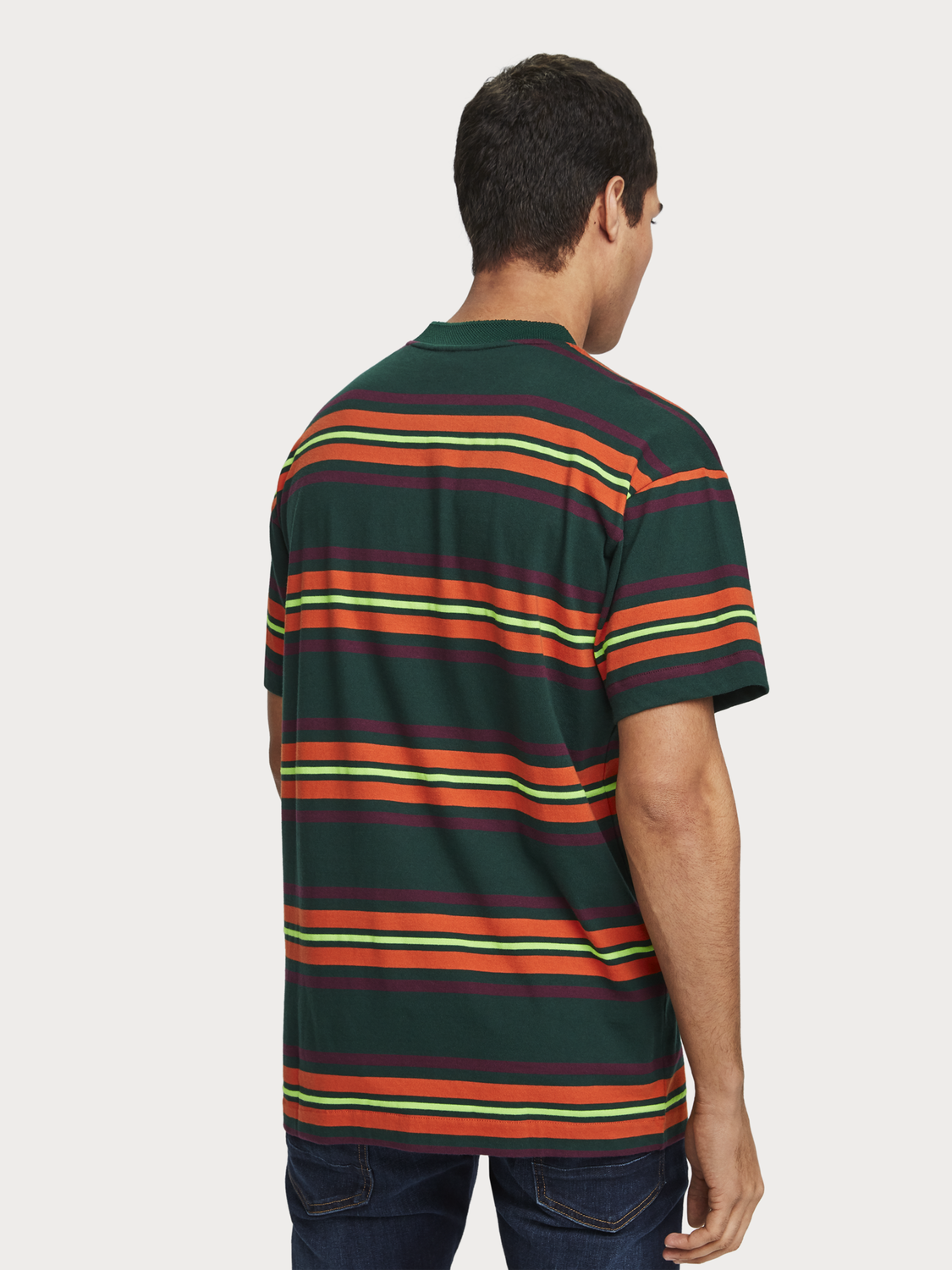 Men Oversized Striped T-Shirt