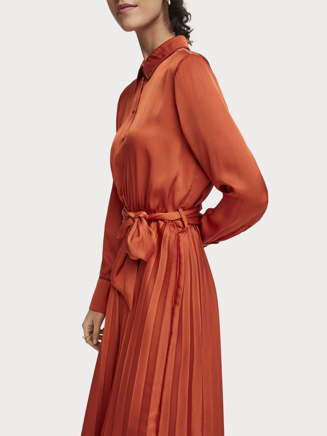 Women Pleated Midi Dress