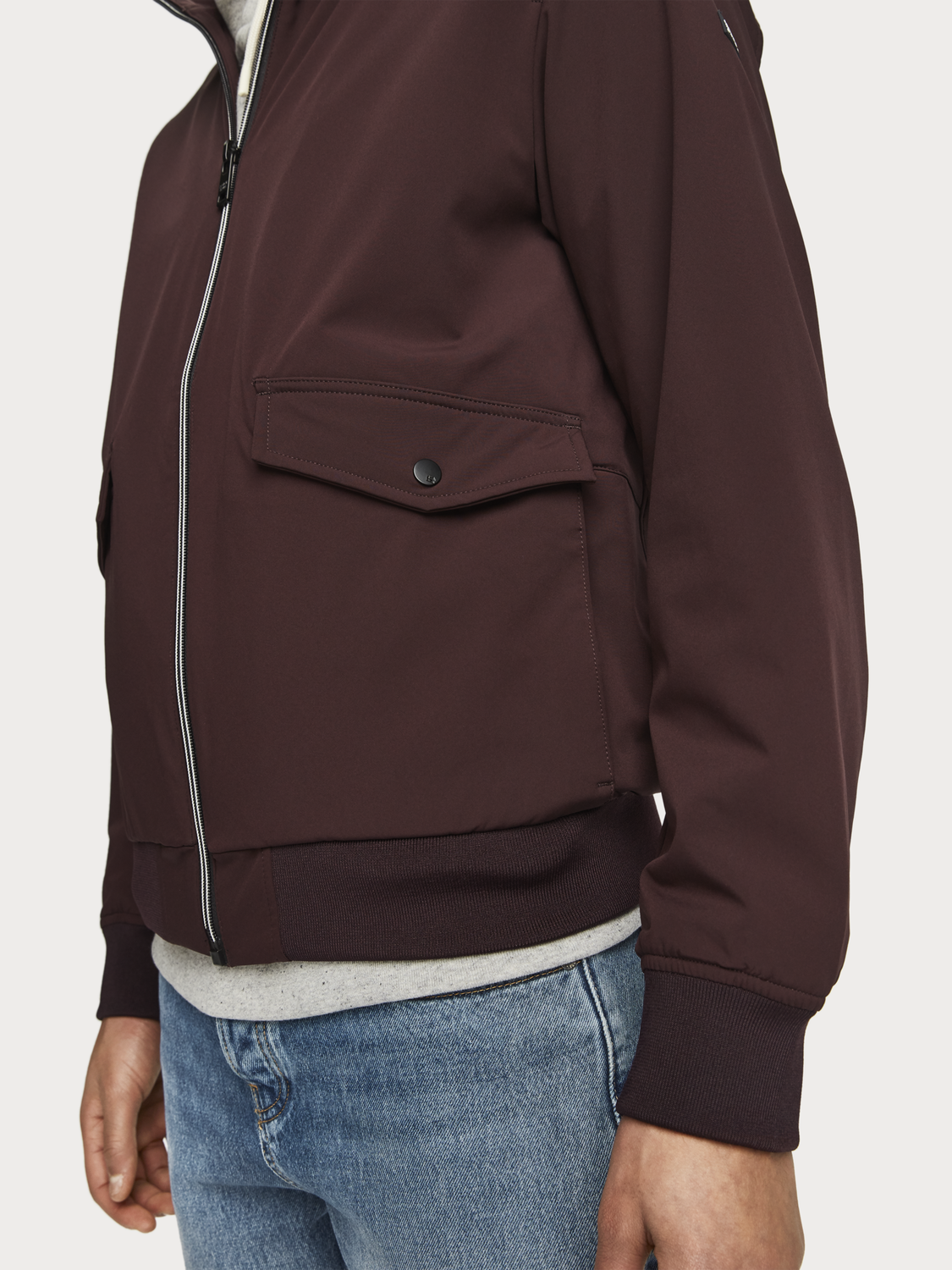 Homme Veste harrington en nylon