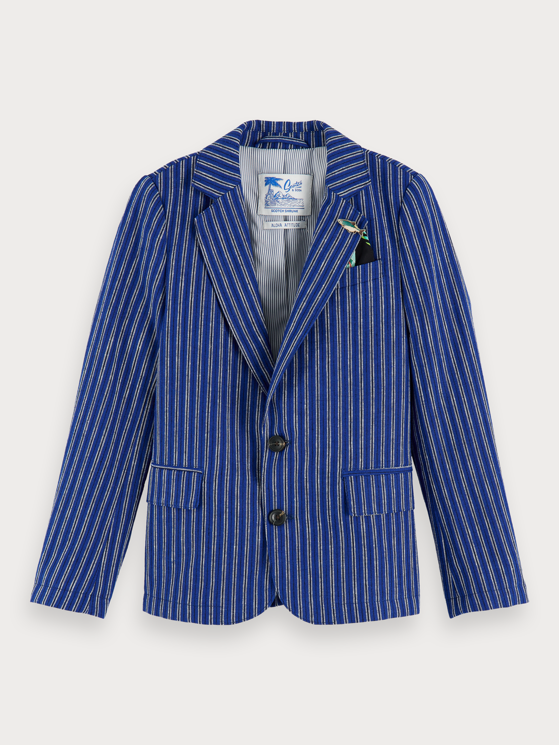 Boys Cotton-linen blazer
