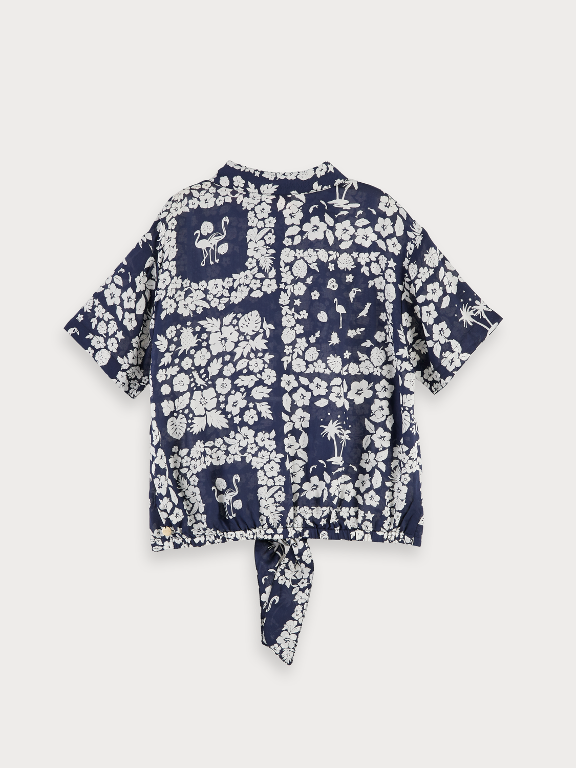 Girls Hawaiian floral print shirt