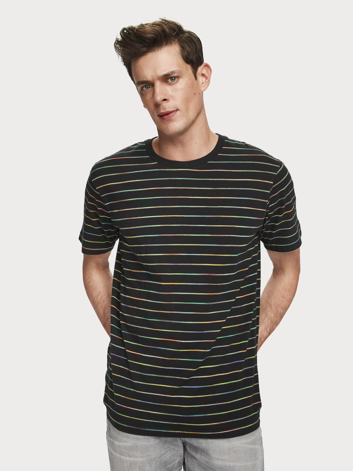 Men Space Dye Stripe T-Shirt