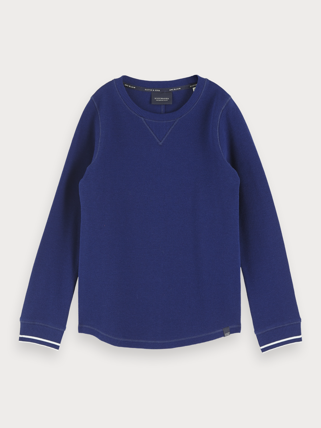 Boys Long Sleeved Waffle Knit T-Shirt