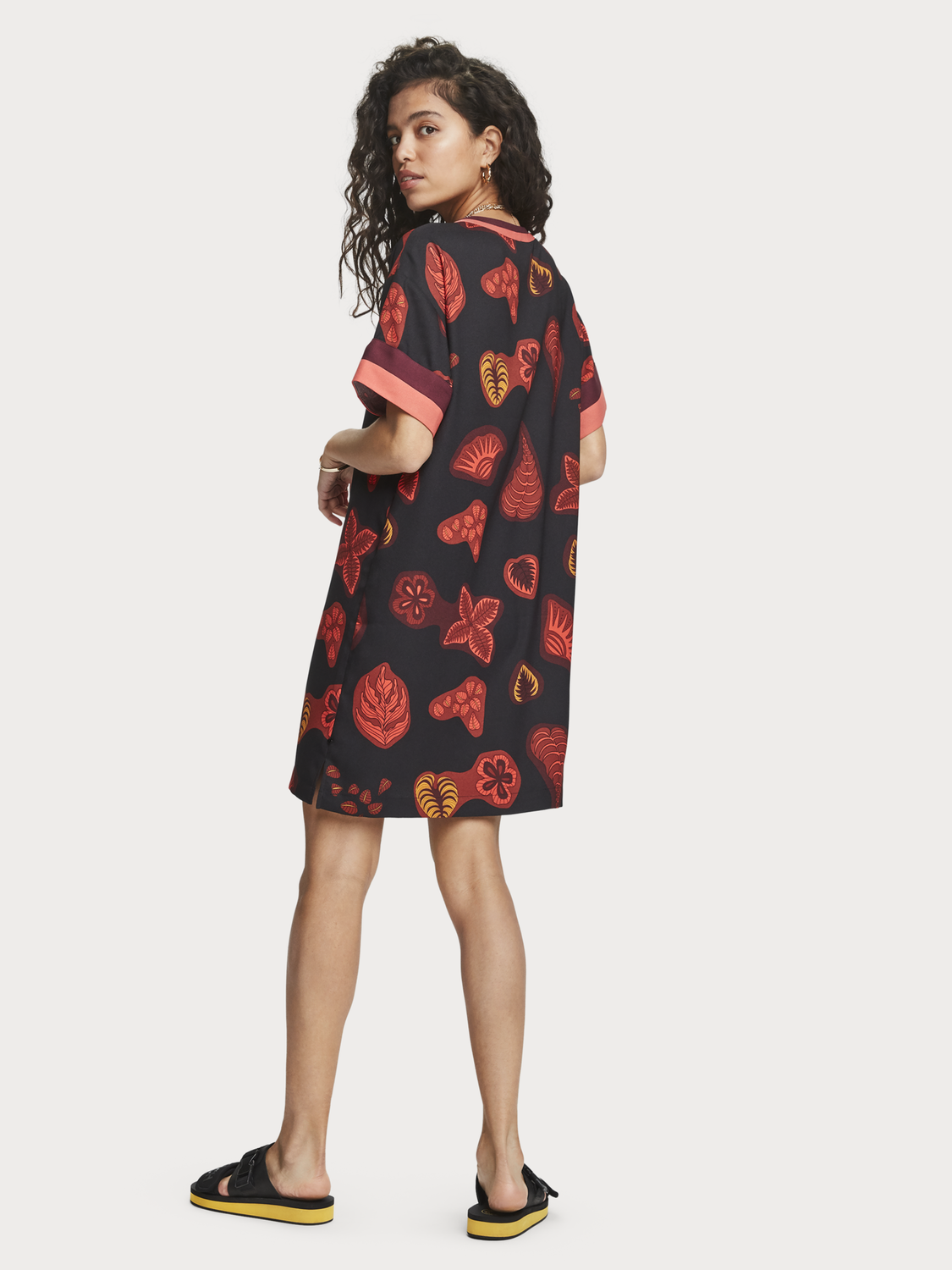 Women Printed V-Neck Dress