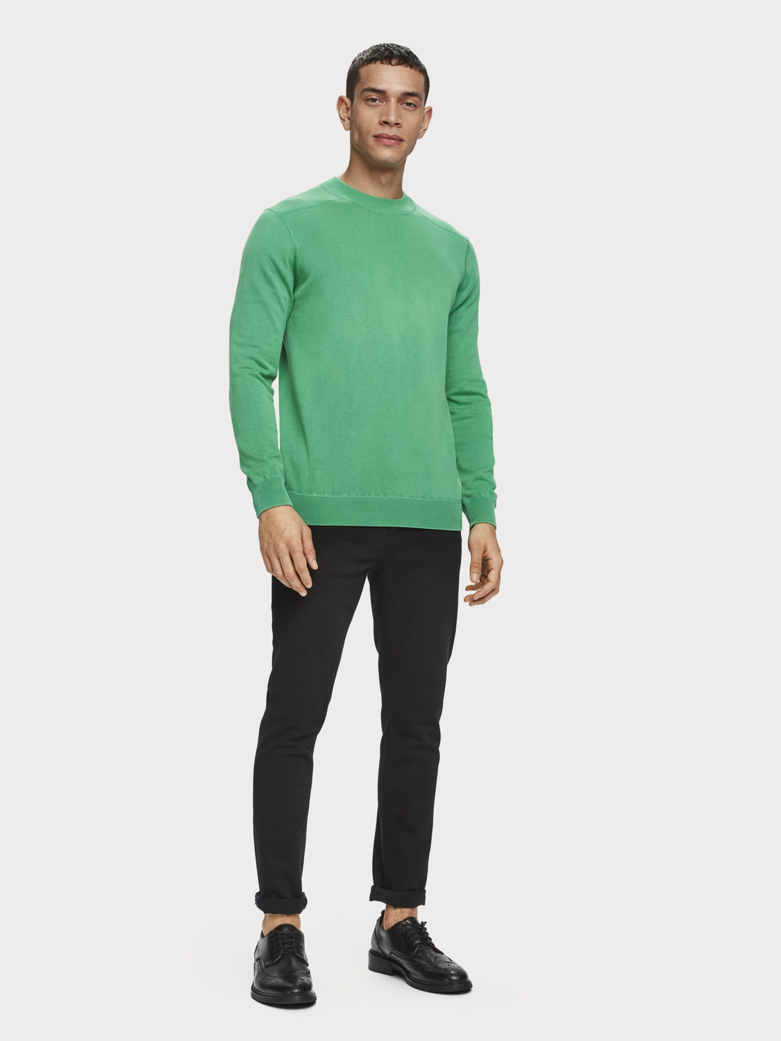 Men Basic Crew Neck Pullover