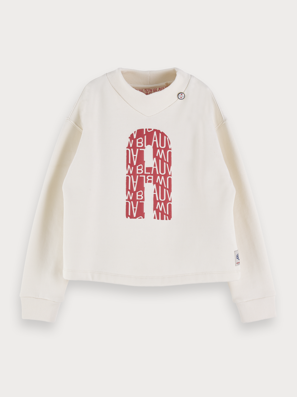 Girls Blauw Artwork Sweater