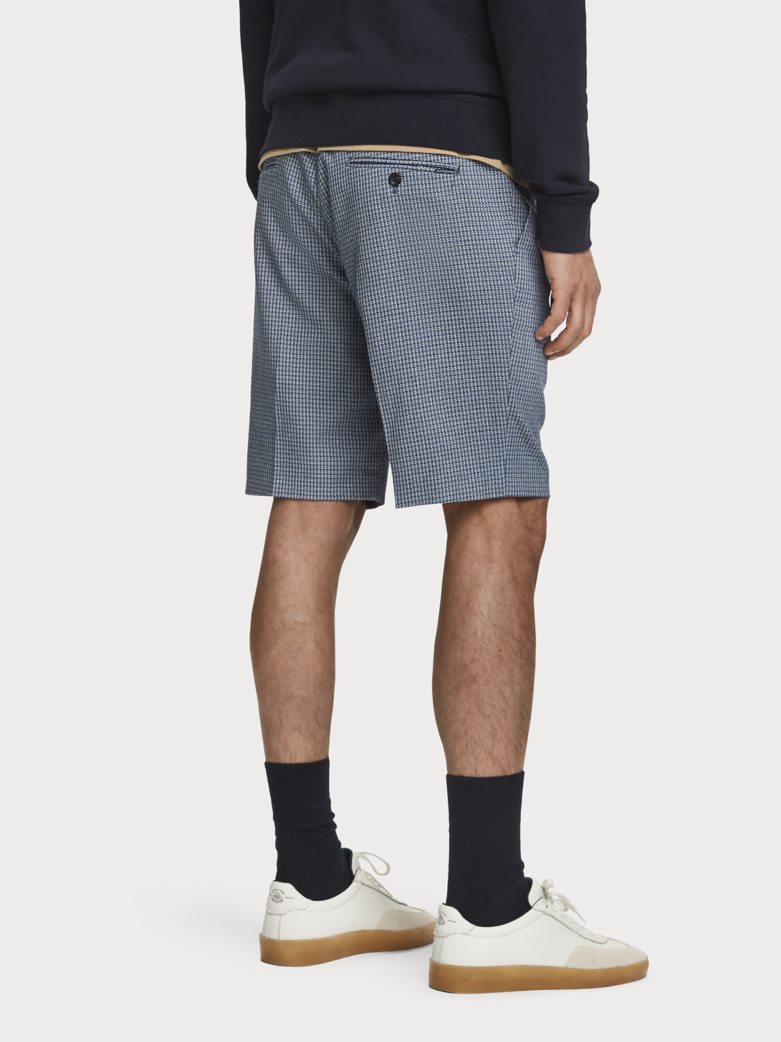 Men Structured Dress Shorts