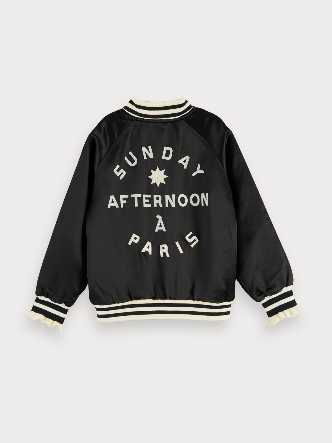 Girls Satin Nylon Bomber Jacket
