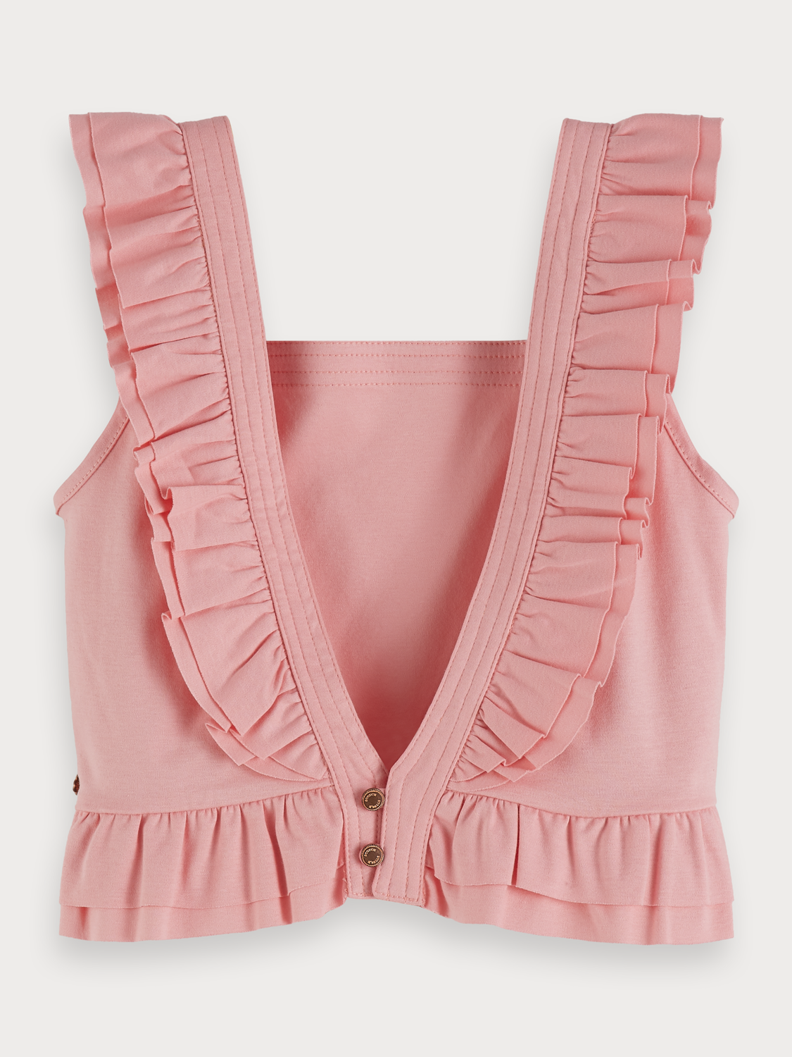 Girls Ruffled jersey top