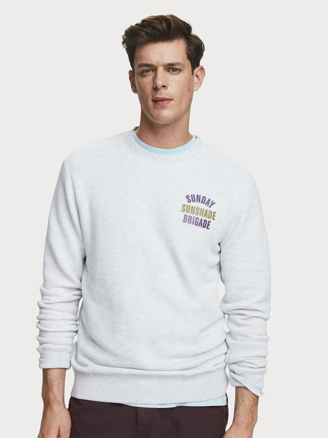 Men Mélange Artwork Sweater