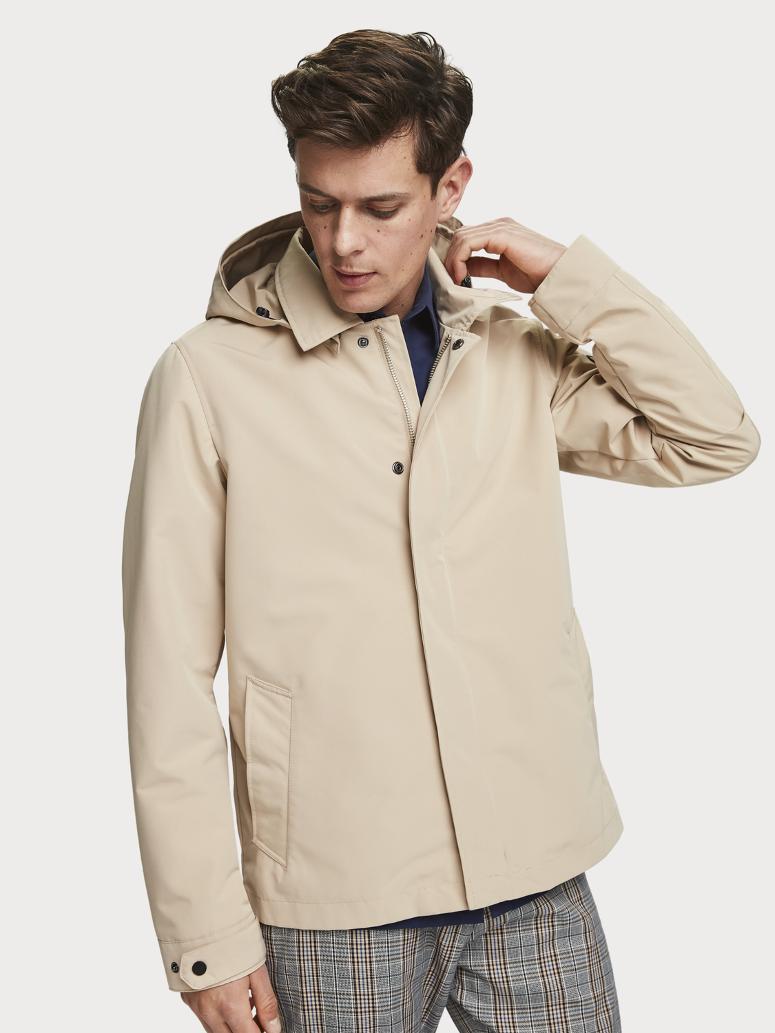 Men Detachable Hood Jacket