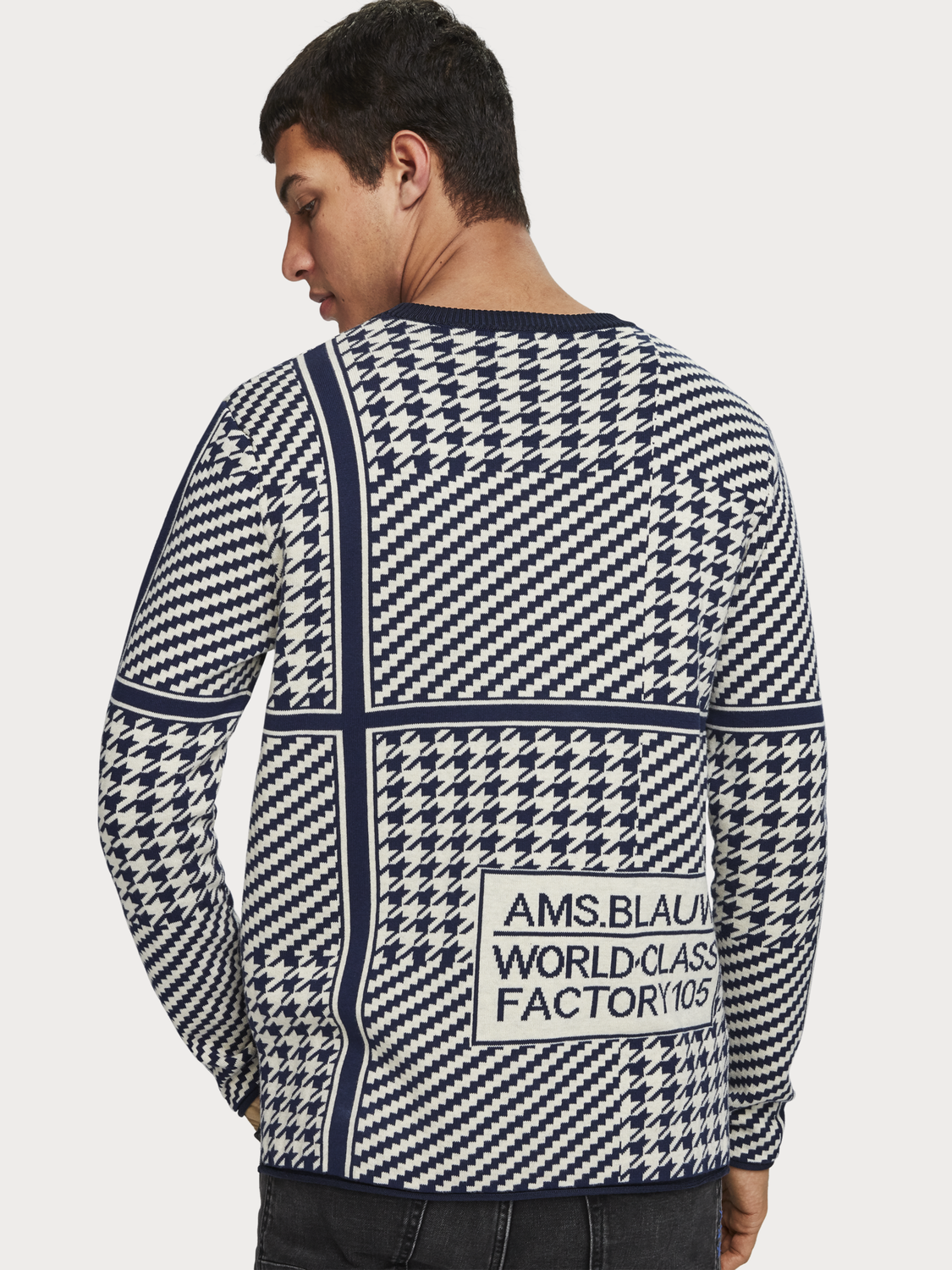Men Mixed Pattern Pullover