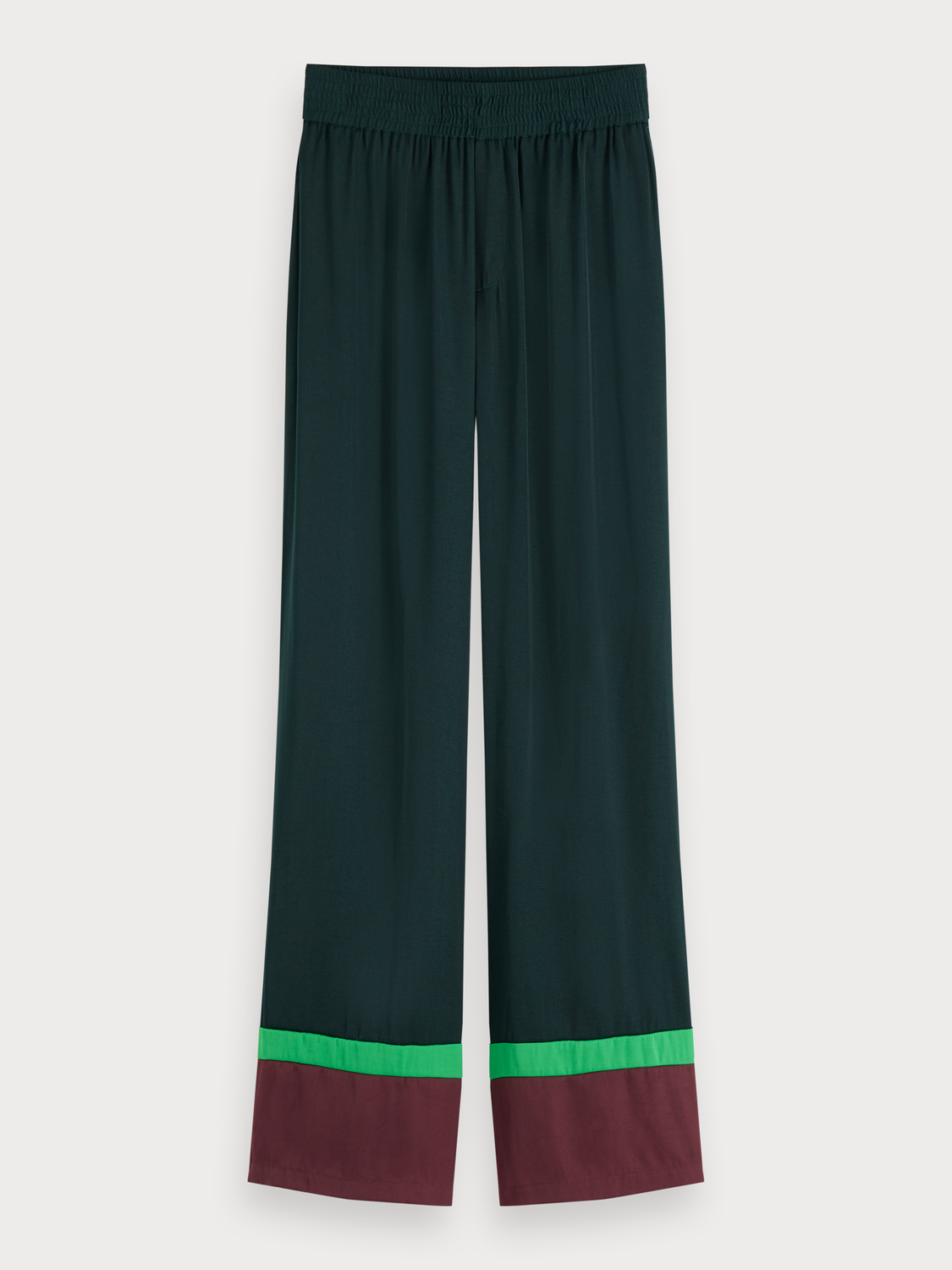 Women Wide leg colour block trousers