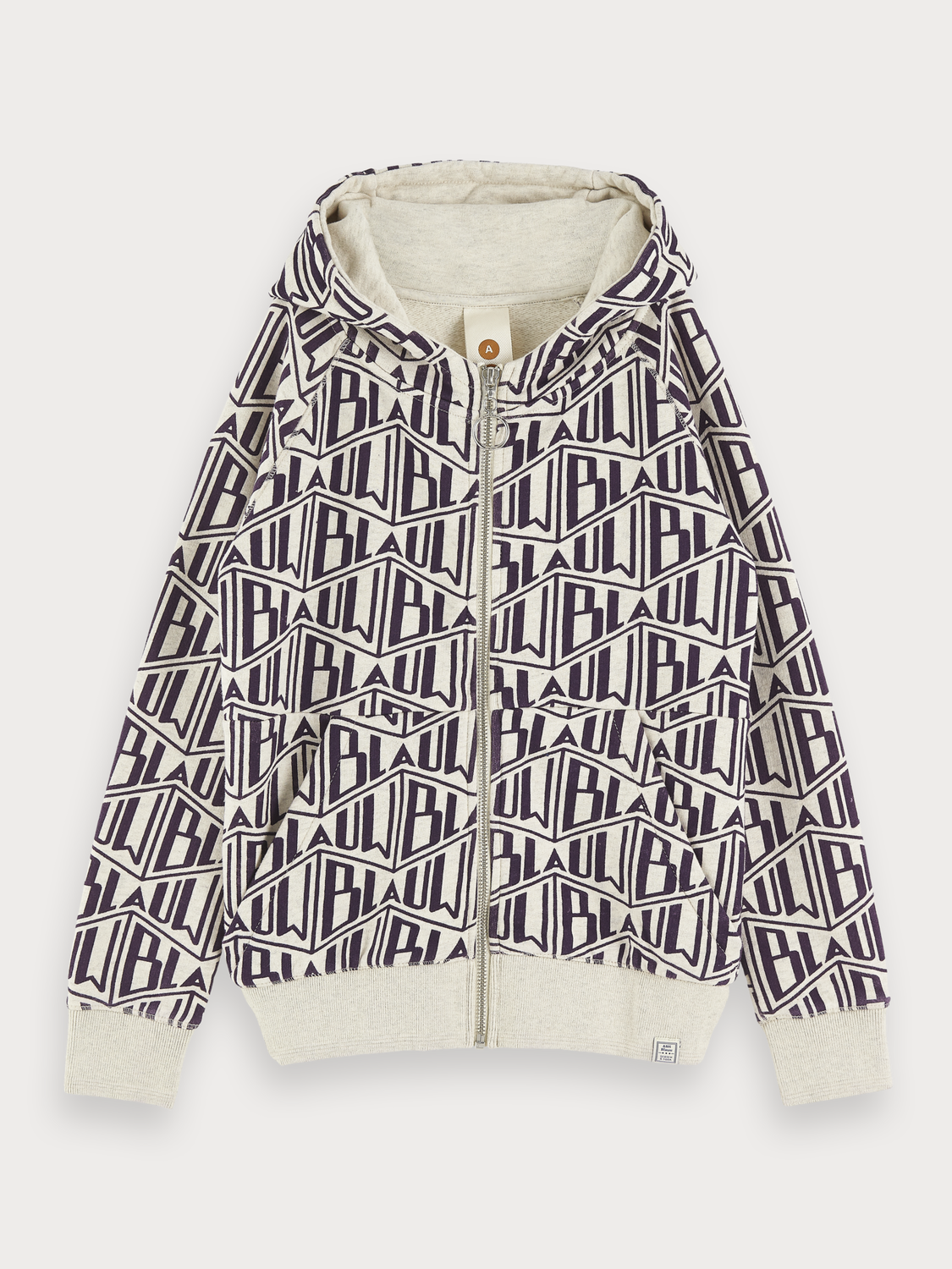 Boys Zip-Through Artwork Hoodie