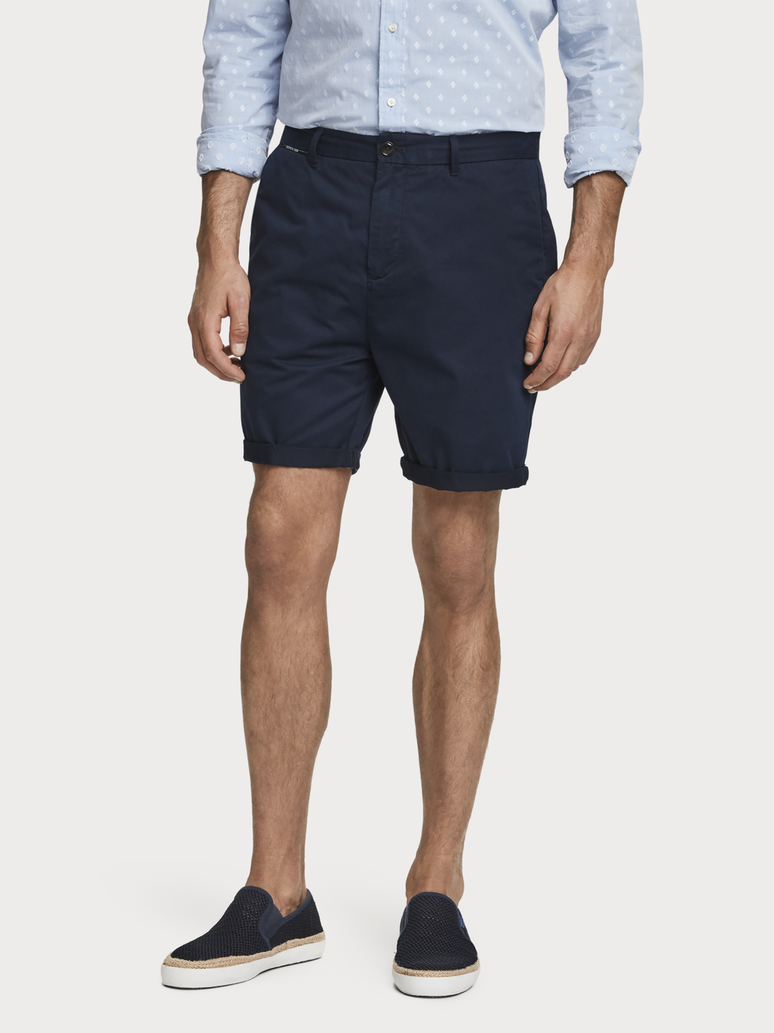 Men Pima Cotton Chino Shorts