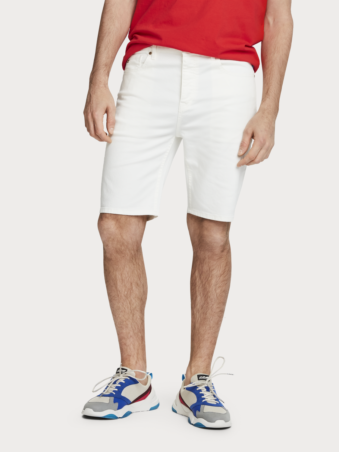 Men 5-Pocket Denim Shorts
