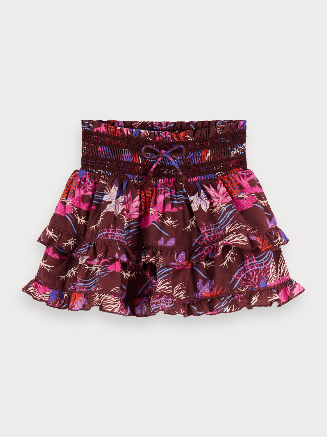 Girls Printed Mini Skirt