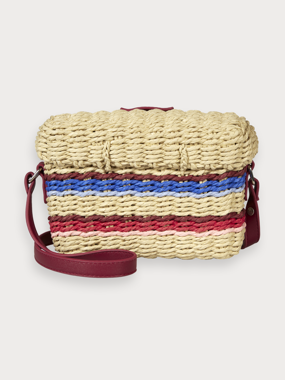 Women Striped Straw Bag