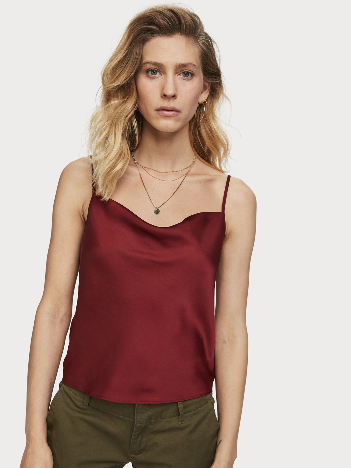 Women Cowl neck tank top