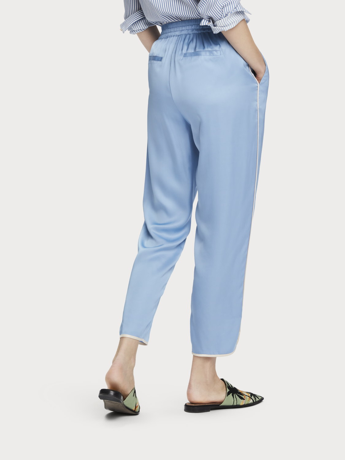 Women Viscose satin joggers
